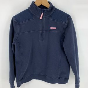 Vineyard Vines Navy quarter zip shep shirt